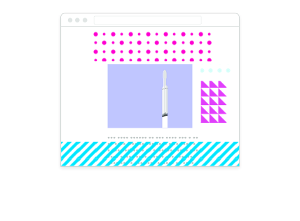 Illustration of ad-filled desktop browser without Scroll