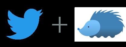 Twitter plus Nuzzel logos